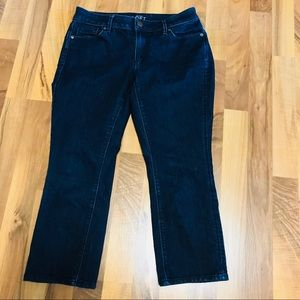 Ann Taylor Loft Curvy Kick Crop Jeans 28/6P